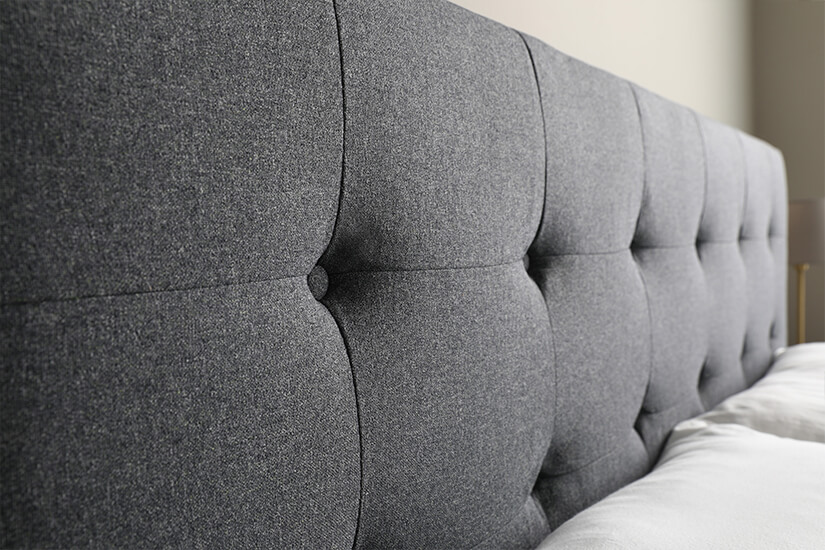 Button tufted headboard for elegance and comfort
