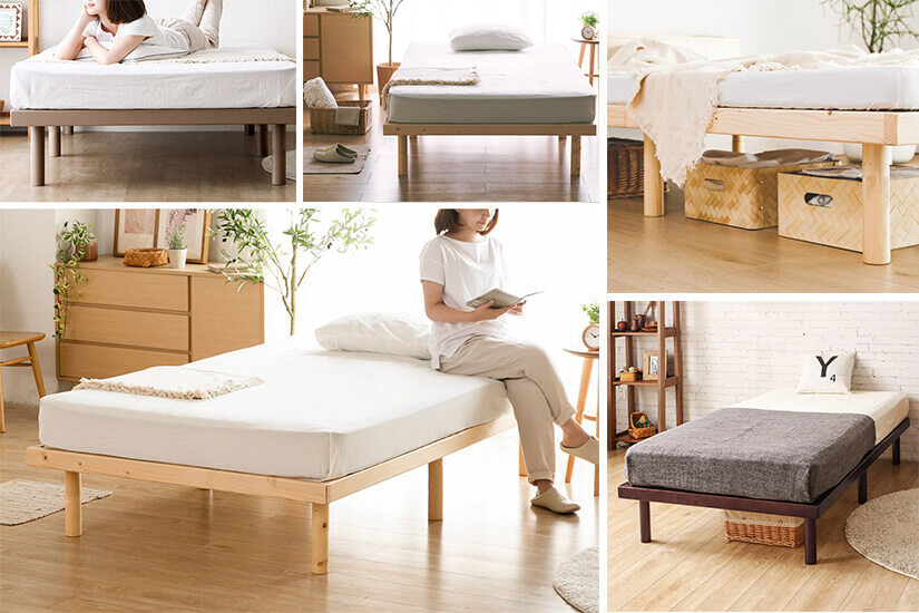 Slim and sleek frame. Great for small bedrooms.