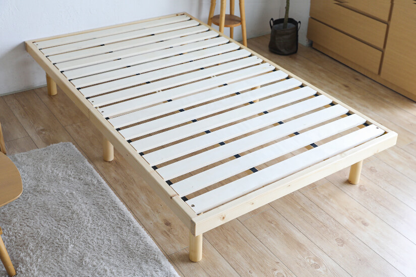 Wooden slats allow air to circulate. Reduces trapped heat.
