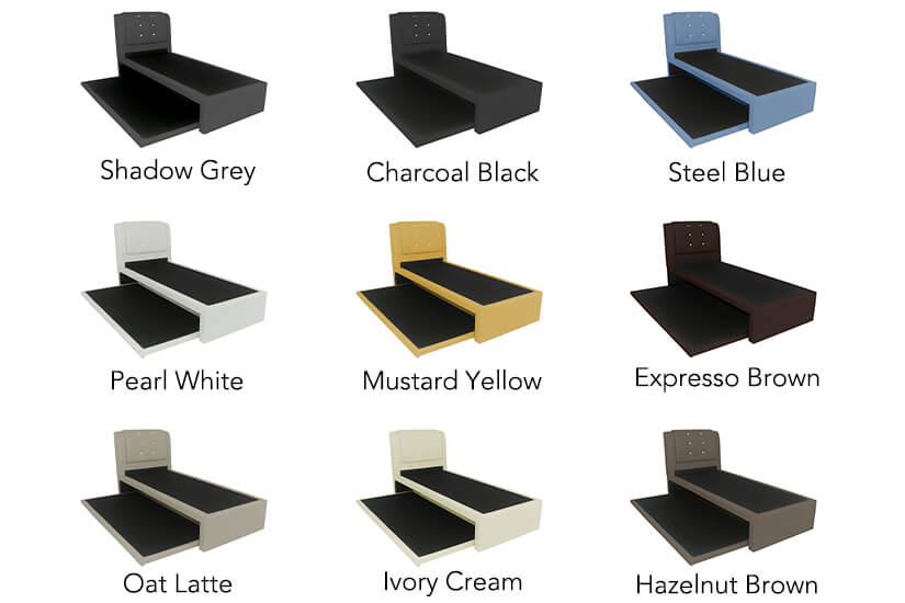 Available in 9 colours. Choose your favourite shade of neutral or make a statement with a pop of colour!