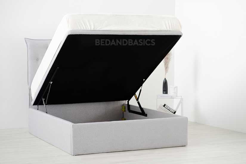 Large under bed storage that keeps any clutter well-hidden.