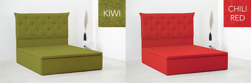 Kiwi and chili red