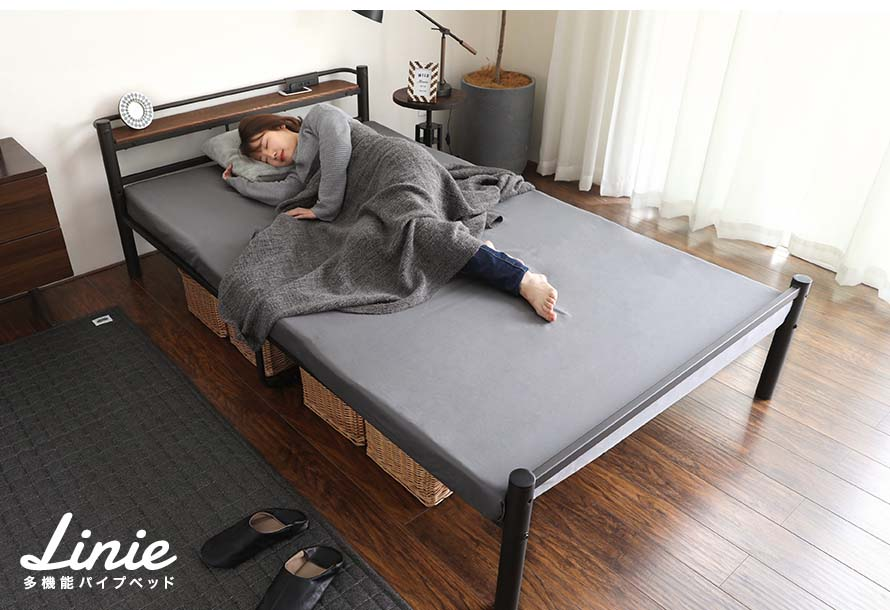 Buy the Linie metal bed at bedandbasics.sg today.