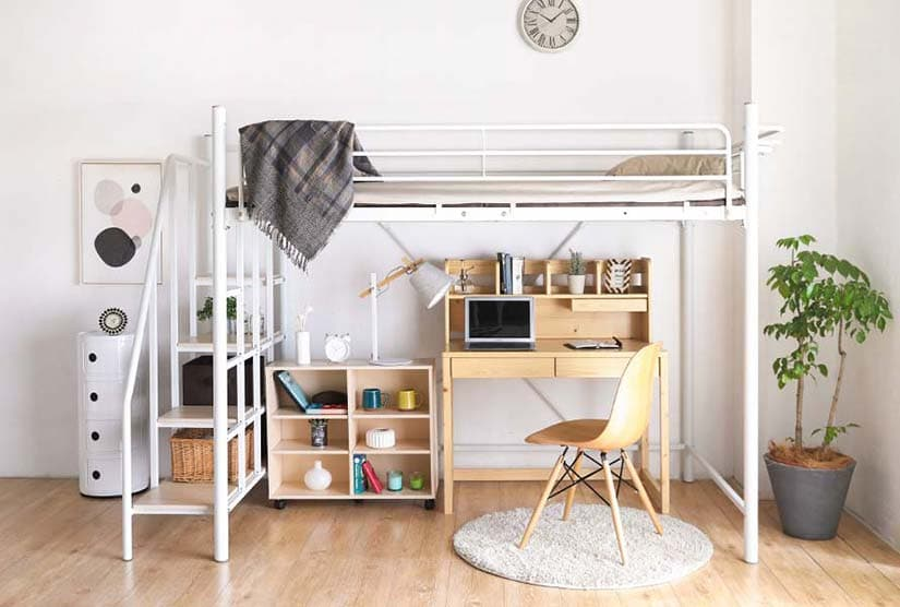 Elegance. Safety. Space saving. All you want in a loft bed.