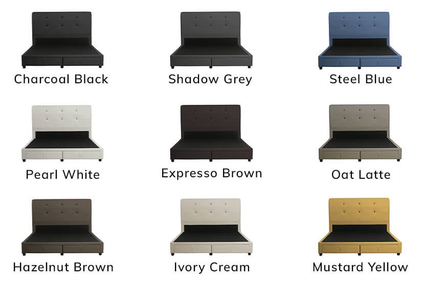 Available in 9 exciting colours for you to choose from.