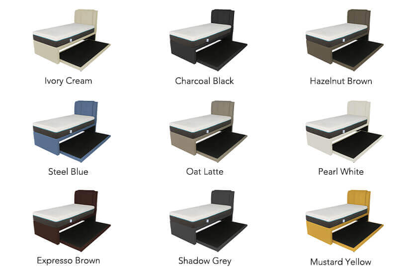 The Medina 2-in-1 Faux Leather Bed Frame comes in many colours to choose from.