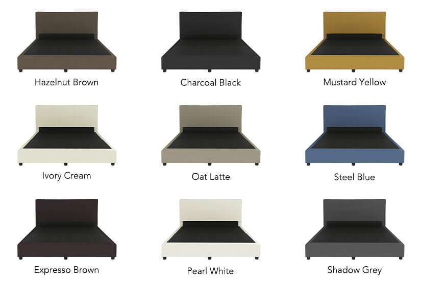 The Mia Faux Leather Bed Frame is available in nine colours to suit all interior styles.