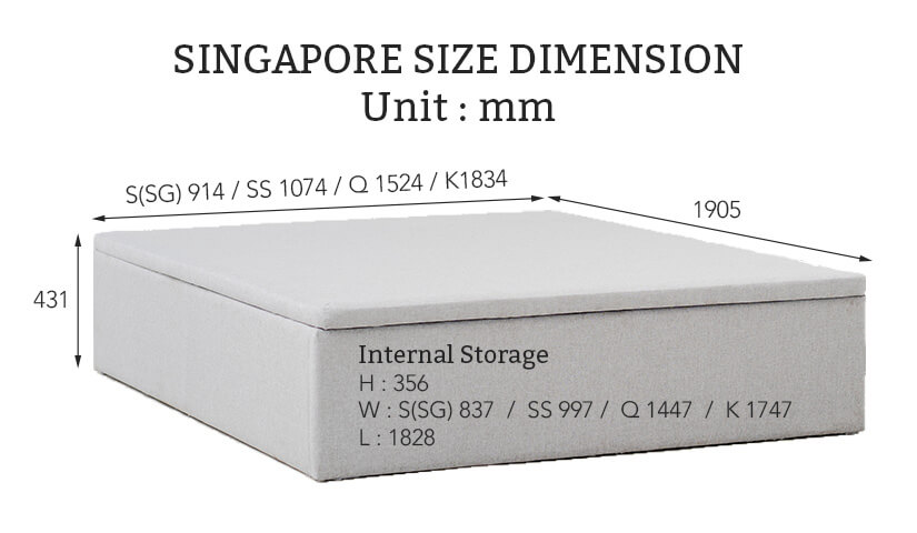 Singapore Size Bed Frame Dimensions