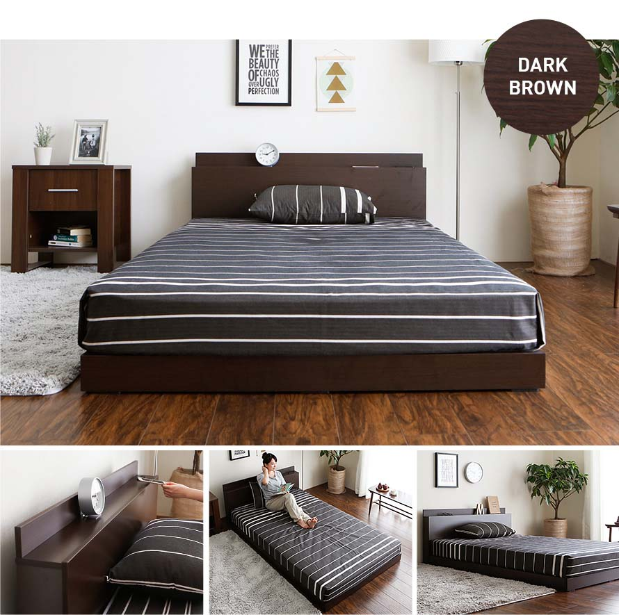 The Velvet bed in Dark Brown color in a modern bedroom