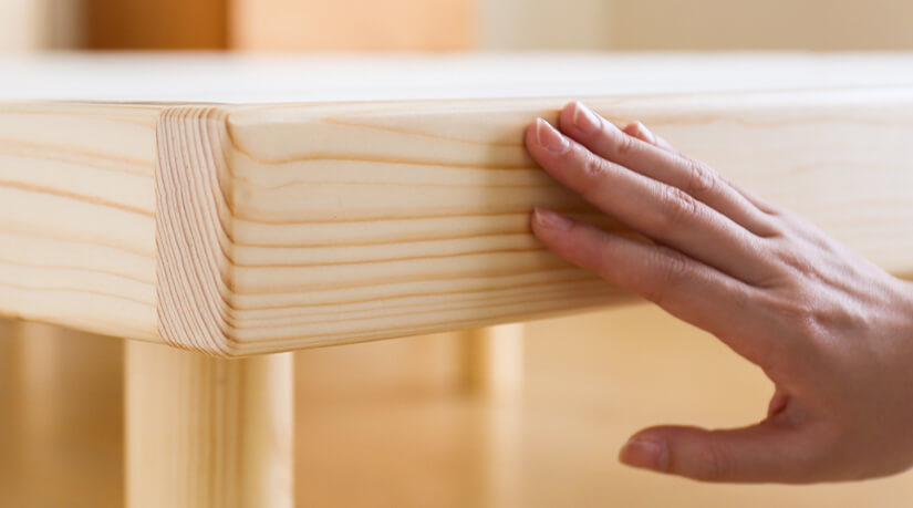 Made from natural pine wood. Beautiful natural wood grain texture and warm pinewood tones.