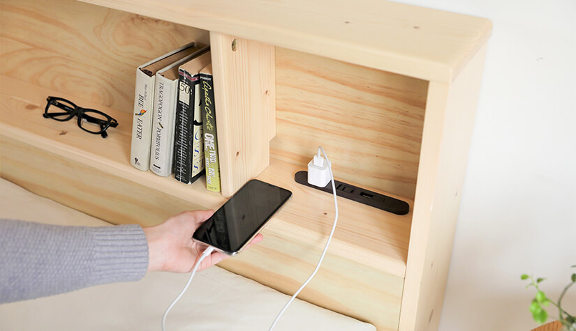 Power up your devices with attached USB socket.