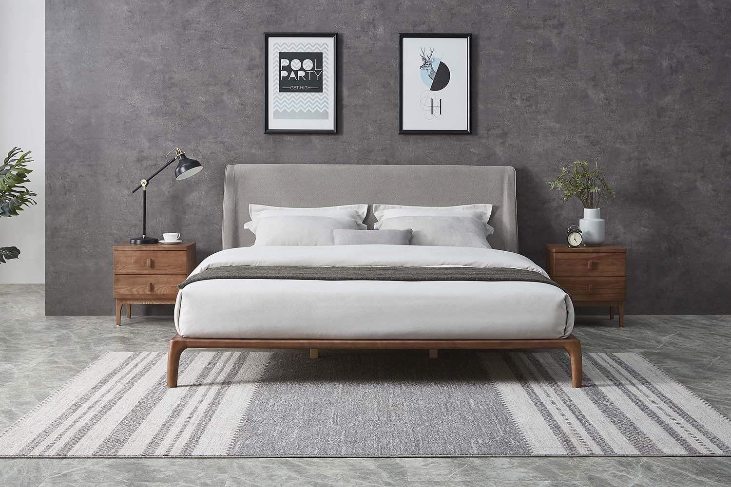 The Tyme Ash Wood Bed Frame, a centrepiece of understated elegance.