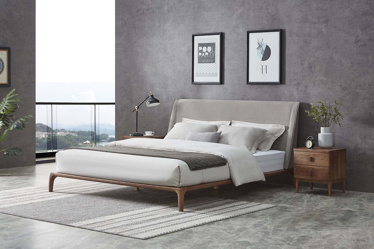 A slim outline is the hallmark of the Tyme bed.