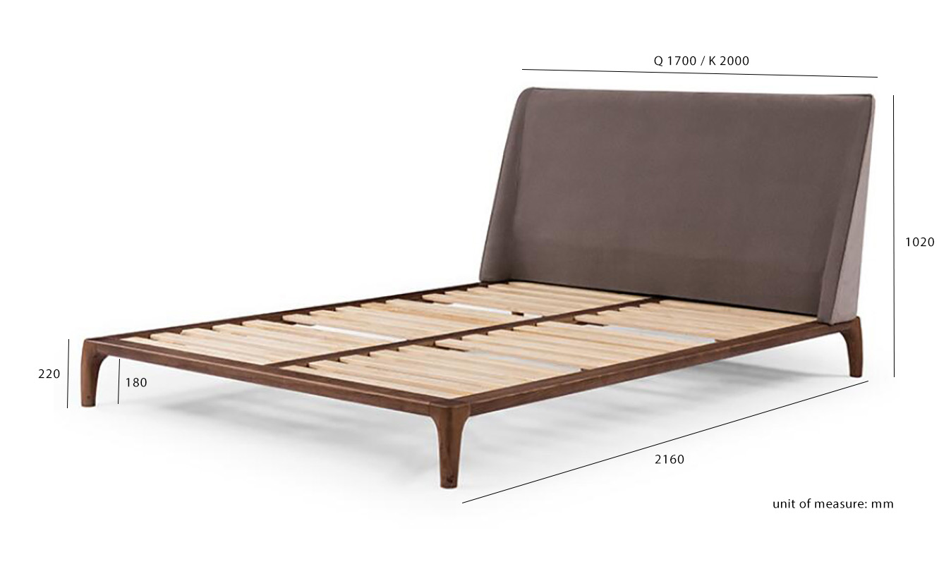 The Tyme bed dimensions