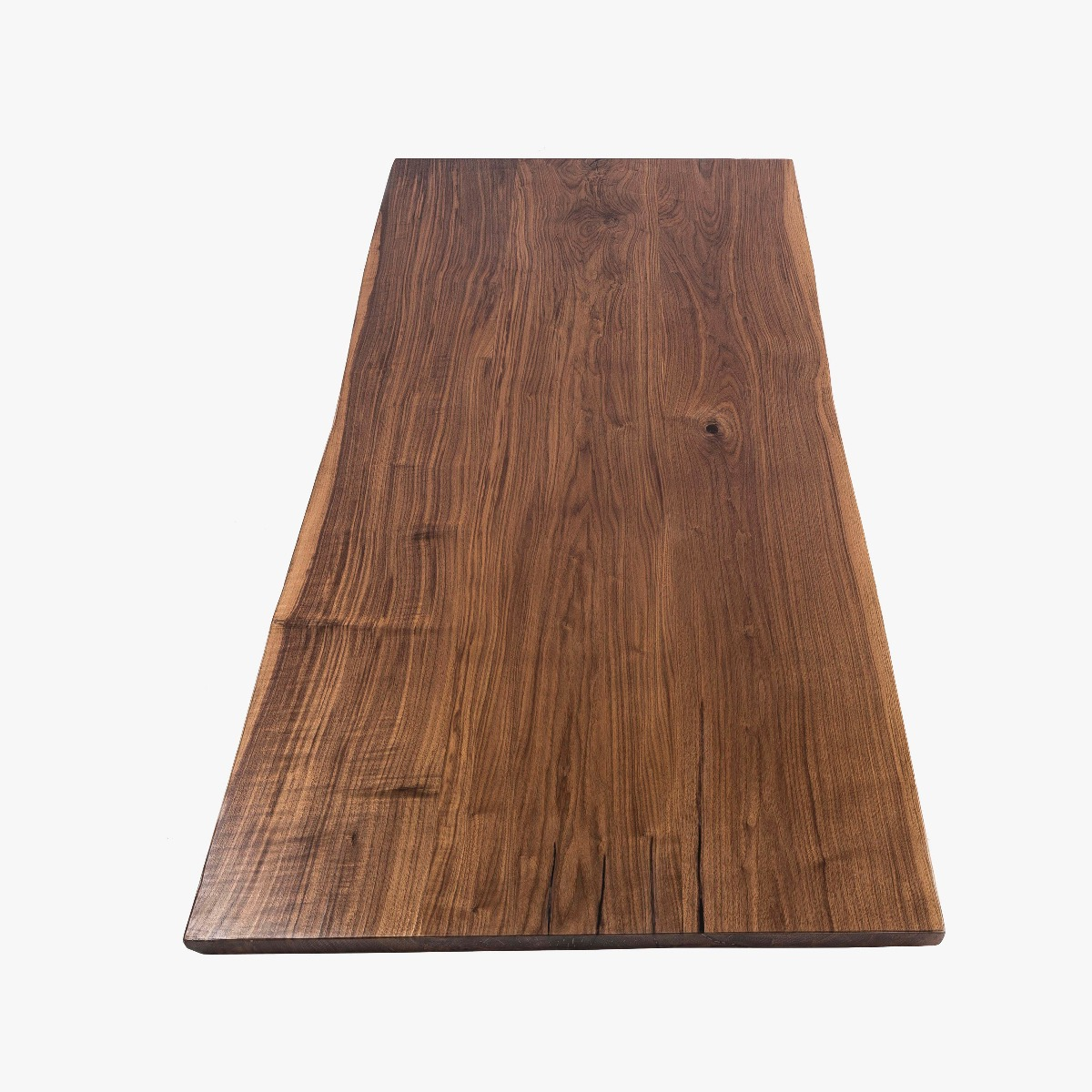 North American Black Walnut wood has rich, dark tones and intricate grain patterns.